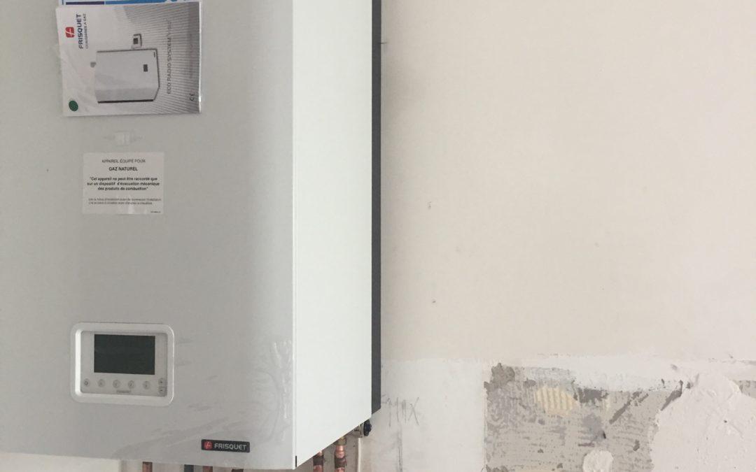 installation a bussy-saint-georges d'une chaudière frisquet hydromotrix 25 kw mixte evolution  VMC