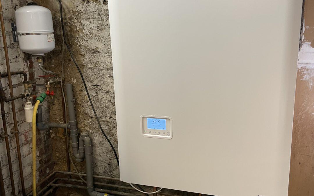 remplacement a lagny-sur-marne d'une chaudière gaz frisquet avec ballon inox de 80 litres a condensation.